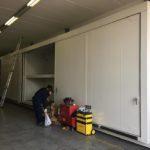 2 Contenedores modulares apq fabricado con materiales REI120, capacidad 24-32 palets. Puertas correderas