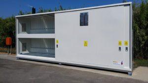 Contenedor modular 12 posiciones de palets apto para productos corrosivos APQ-10