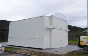 Almacén modular APQ de 8 metros para productos químicos