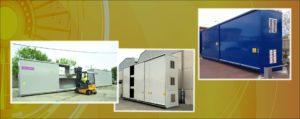 Contenedores modulares sin protección al fuego