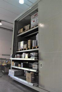 contenedor con protección al fuego